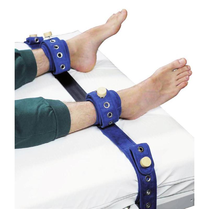 Sangles attache chevilles lit et brancard - Fermeture magnétique - La paire