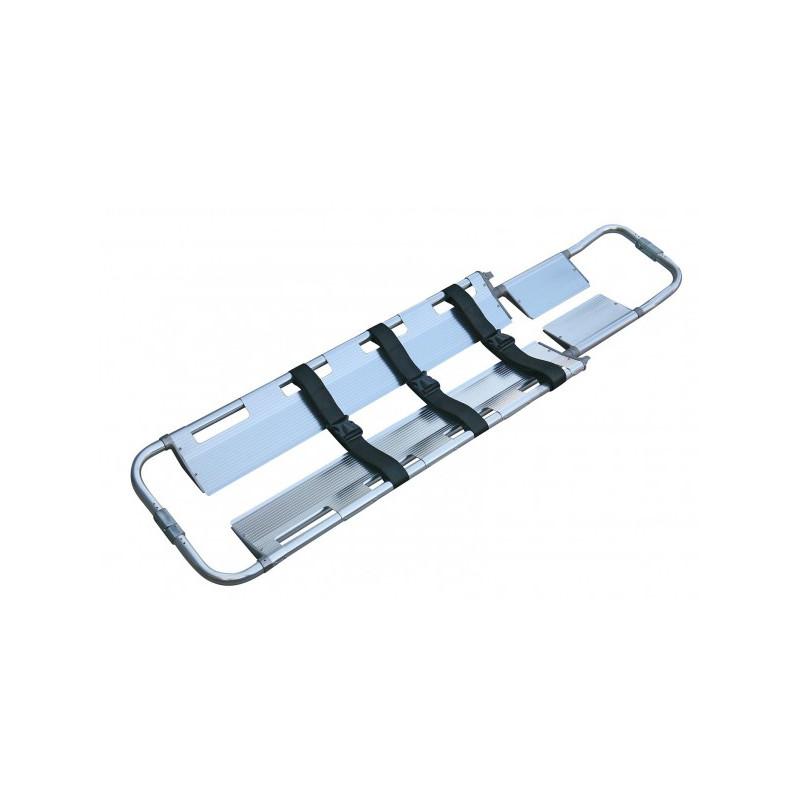 Civière cuillère en aluminium PA-05 avec jeu de 3 ceintures