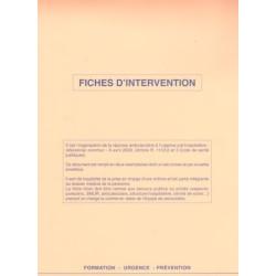 Carnet de fiches bilan d'intervention (25 feuillets de 2)