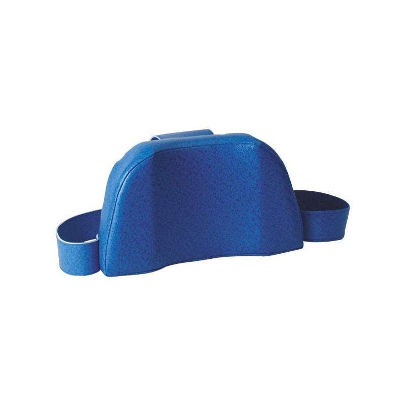 Appui-tête anatomique bleu pour brancard