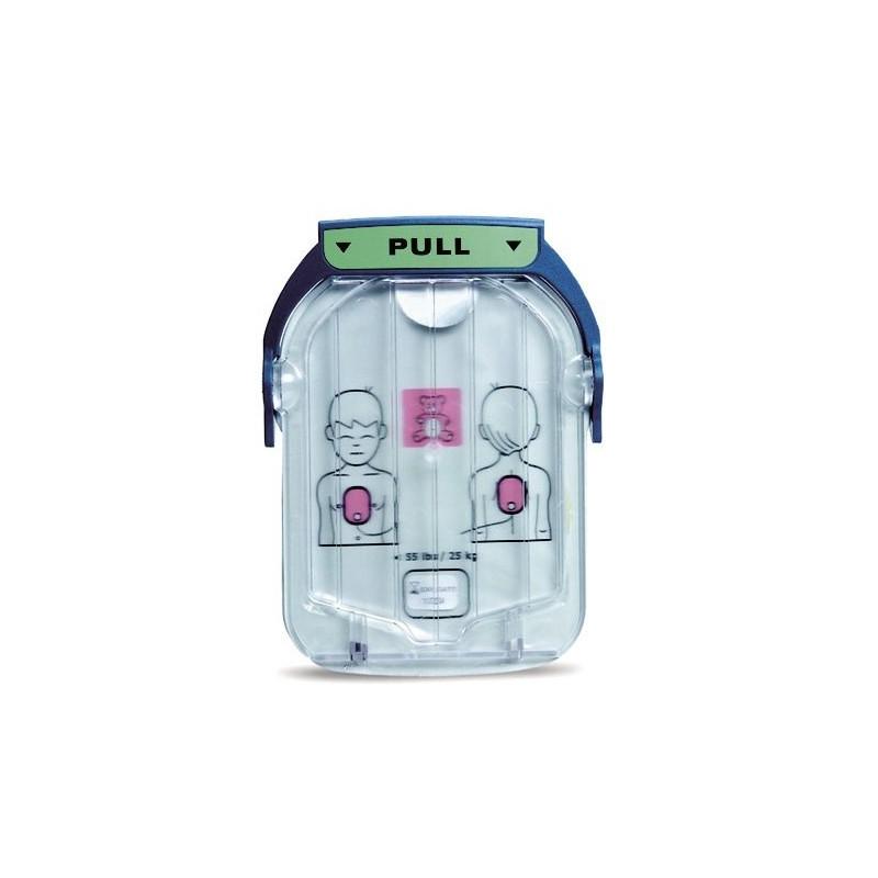 Electrodes enfant pour défibrillateur Philips Heartstart HS1