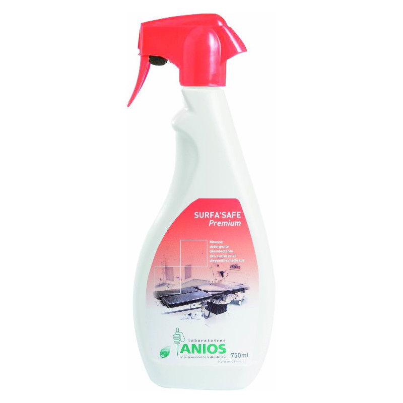 Anios Surfa'Safe Premium - Mousse désinfectante de surfaces - Spray de 750 ml