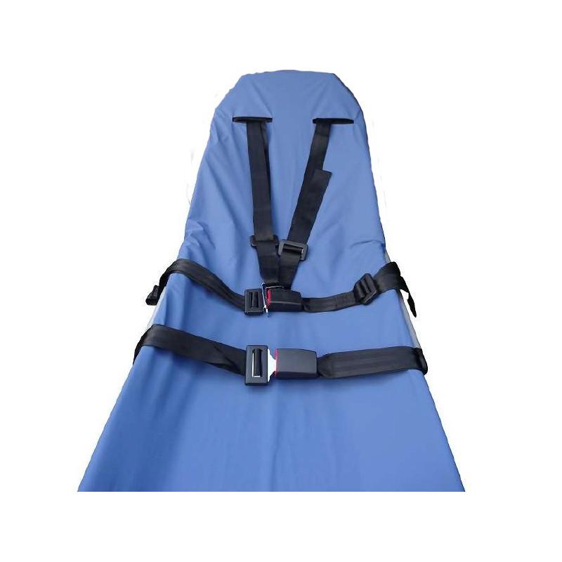 Drap housse - Protège matelas de brancard avec passage ceinture