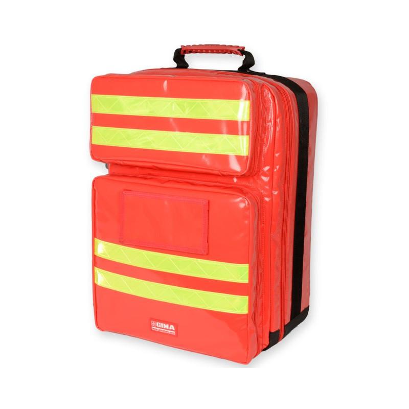 Sac à dos d'urgence PVC SILOS 2 Rouge + 4 pochettes Offertes