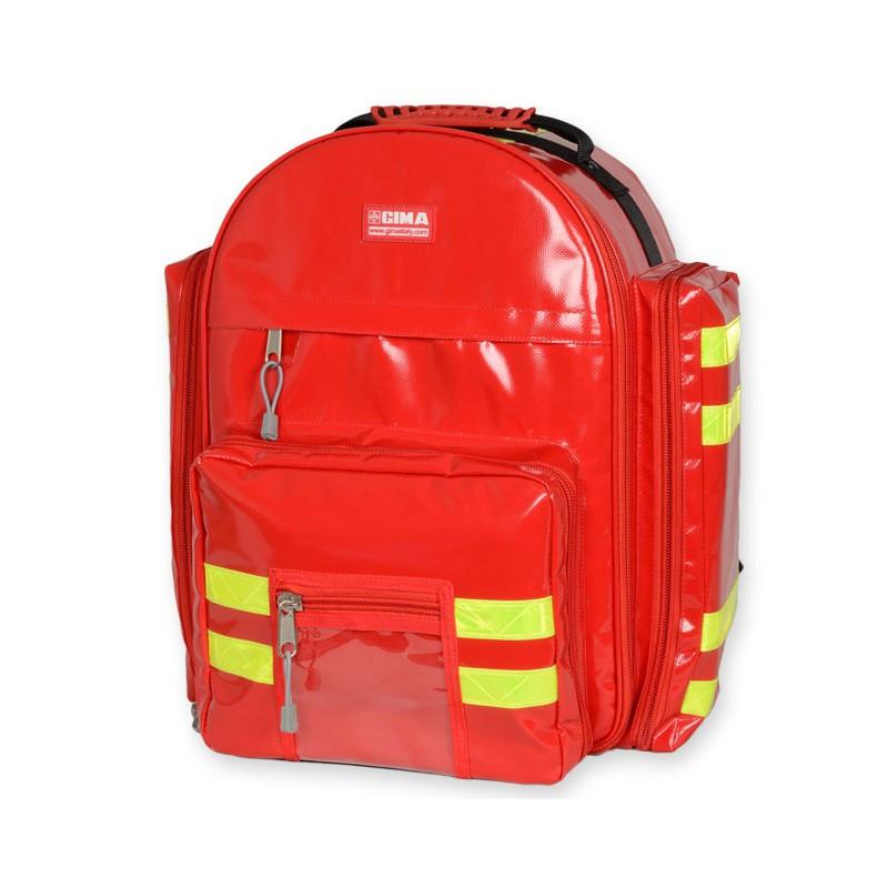 Sac à dos d'urgence PVC LOGIC 2 Rouge - 6 Pochettes amovibles