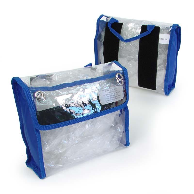 Pochette Bleue Cristal pour sacs Dimatex - 23 x 20 x 8 cm