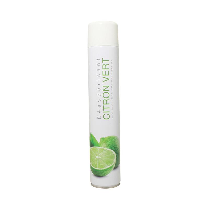Bombe aérosol sec désodorisant Citron Vert 750 ml