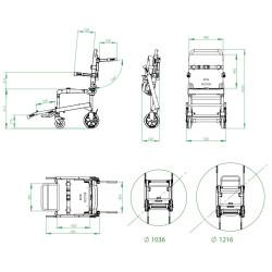 Chaise portoir PS-251 - Chenilles motorisées amovibles PA-260