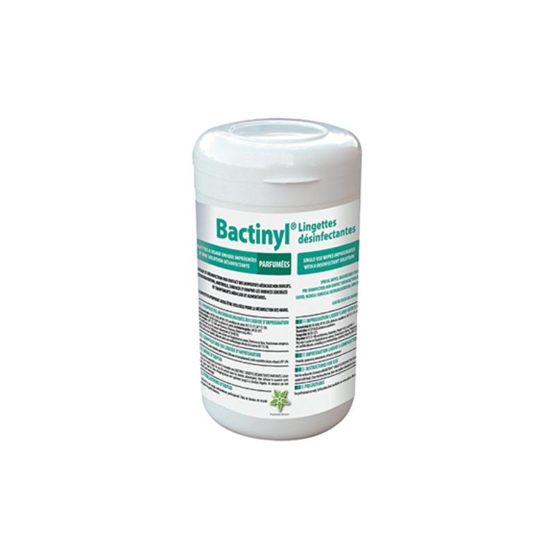 Lingettes désinfectantes Bactinyl Norme EN14476 - Boite de 120