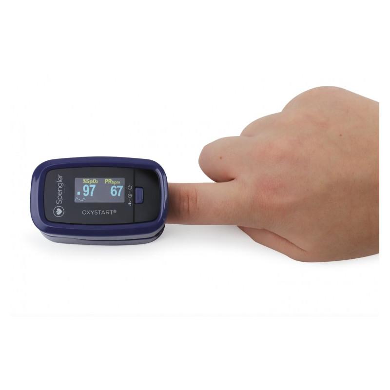 Oxymètre de pouls au doigt Oxystart SPENGLER - Couleur Myrtille