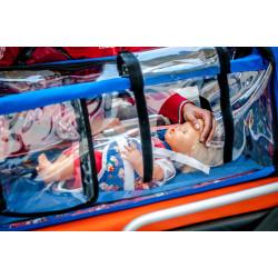 Module de transport pédiatrique avec harnais de maintien