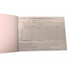 Carnet feuilles de route hebdomadaire (50 semaines avec duplicatas)